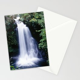Beyond Remote Waterfall In Papua New Guinea Highlands Stationery Cards