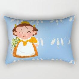 Fallera Rectangular Pillow