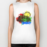 chicago Biker Tanks featuring Chicago by Badamg