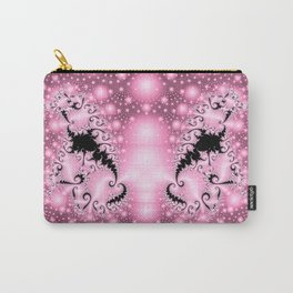 Mostly Pink with a Bit of Black Elegance Carry-All Pouch