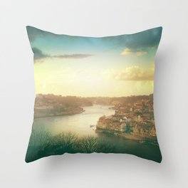 Porto landscape Throw Pillow