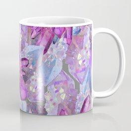 PURPLE AMETHYST & QUARTZ CRYSTALS FEBRUARY GEMS Coffee Mug