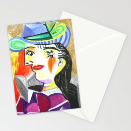 Picasso style-double faces I Stationery Cards