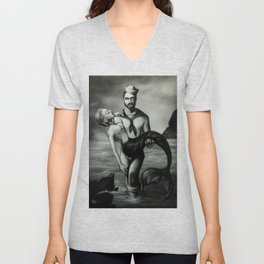 The Sailor and the Mermaid Unisex V-Neck