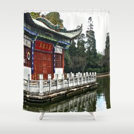 Chinese Lake House Shower Curtain