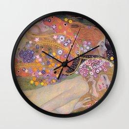 WATER SNAKES - GUSTAV KLIMT Wall Clock