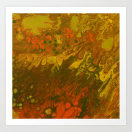 Orange color burst Art Print