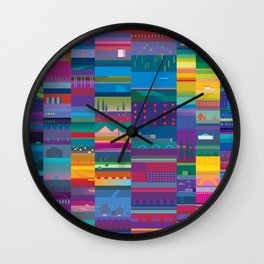 Colorful land Wall Clock