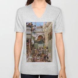 Lawrence Alma-Tadema - Spring - Digital Remastered Edition Unisex V-Neck