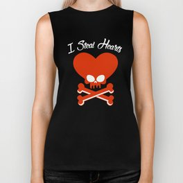 I Steal Hearts, Valentine's Gift For Boys Biker Tank
