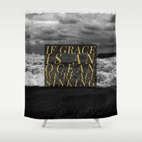 grace Shower Curtains featuring Grace by Efty