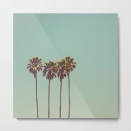 Vintage Palm Trees Metal Print