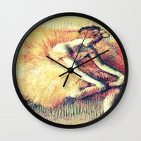 ballerina Wall Clocks featuring BallerinA by PureVintageLove