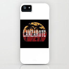 Lanzarote Palm Trees Holiday Motif Gift Idea iPhone Case
