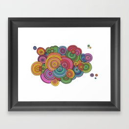 Circle Drawing Meditation Framed Art Print