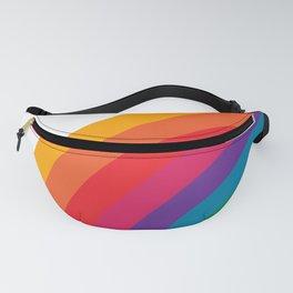 Retro Bright Rainbow - Left Side Fanny Pack