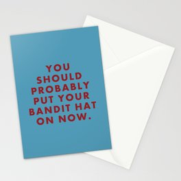 """Fantastic Mr Fox - """"You should probably put your bandit hat on now."""" Stationery Cards"""