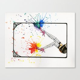 Kicking Up The Color Swing Canvas Print