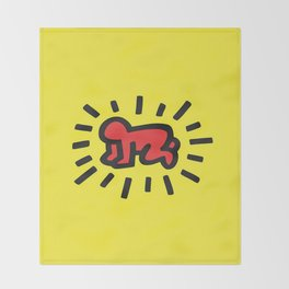 Inspired to Keith Haring Throw Blanket