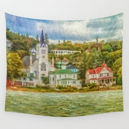 Along the shore Wall Tapestry