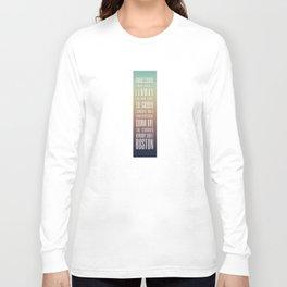 Day 24 - Boston Design Marathon Long Sleeve T-shirt