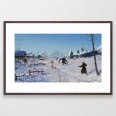very severe winter... Framed Art Print