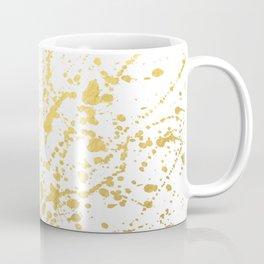 Splat White Gold Coffee Mug