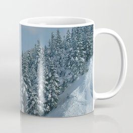 Image USA Stowe Vermont Mount Mansfield Winter Spruce Nature Snow forest Forests Coffee Mug