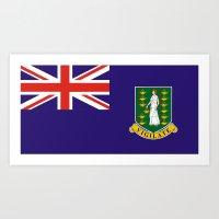 british flag Art Prints featuring British Virgin Islands flag by tony tudor