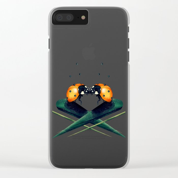Bugs in Love (Pattern) Clear iPhone Case