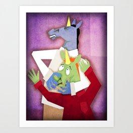 Chiropractor Unicorn Art Print