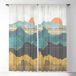 Turquoise Vista Sheer Curtain