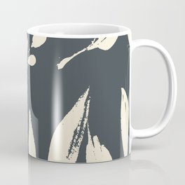 Midnight jungle: black and white modern ink botanicals Coffee Mug