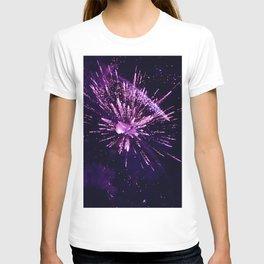 Fireworks purple T-shirt