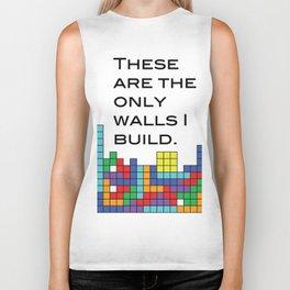 Build bridges, not walls Biker Tank