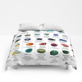 crystals gemstones identification Comforters
