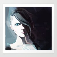 borderlands Art Prints featuring Borderlands - Angel by BEN Olive