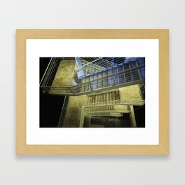 Exterior Stairway at the Getty Framed Art Print