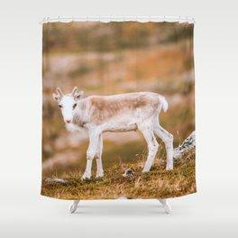 Reindeer Calf Shower Curtain