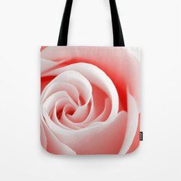 Red Rose Macro - High Key Tote Bag