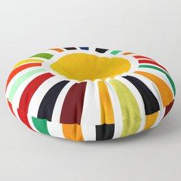 Sun Retro Art Floor Pillow