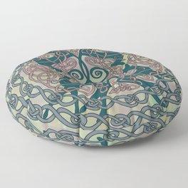 Art Nouveau Greyhounds - Pale Green Floor Pillow