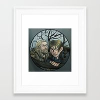 kili Framed Art Prints featuring Fili, Kili. by Ammo