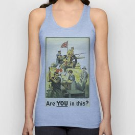 Vintage poster - Are YOU in this? Unisex Tank Top