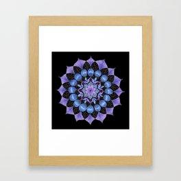 Rhapsodala in Blue (black background) Framed Art Print