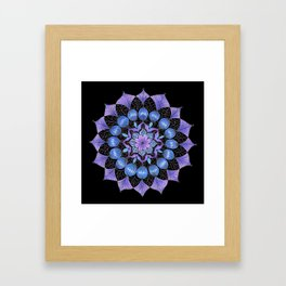 Rhapsodala in Blue (black background) Framed Art Print
