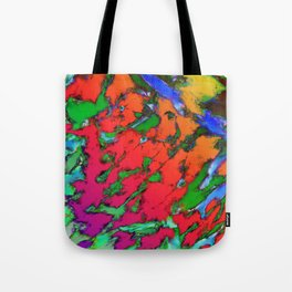 Shattering red tigers Tote Bag