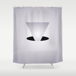Entry Monochrome - Black and White Abstract Art Shower Curtain