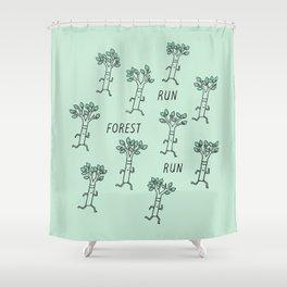 Run Forest Run Shower Curtain
