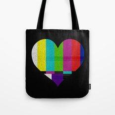Heart TV Tote Bag